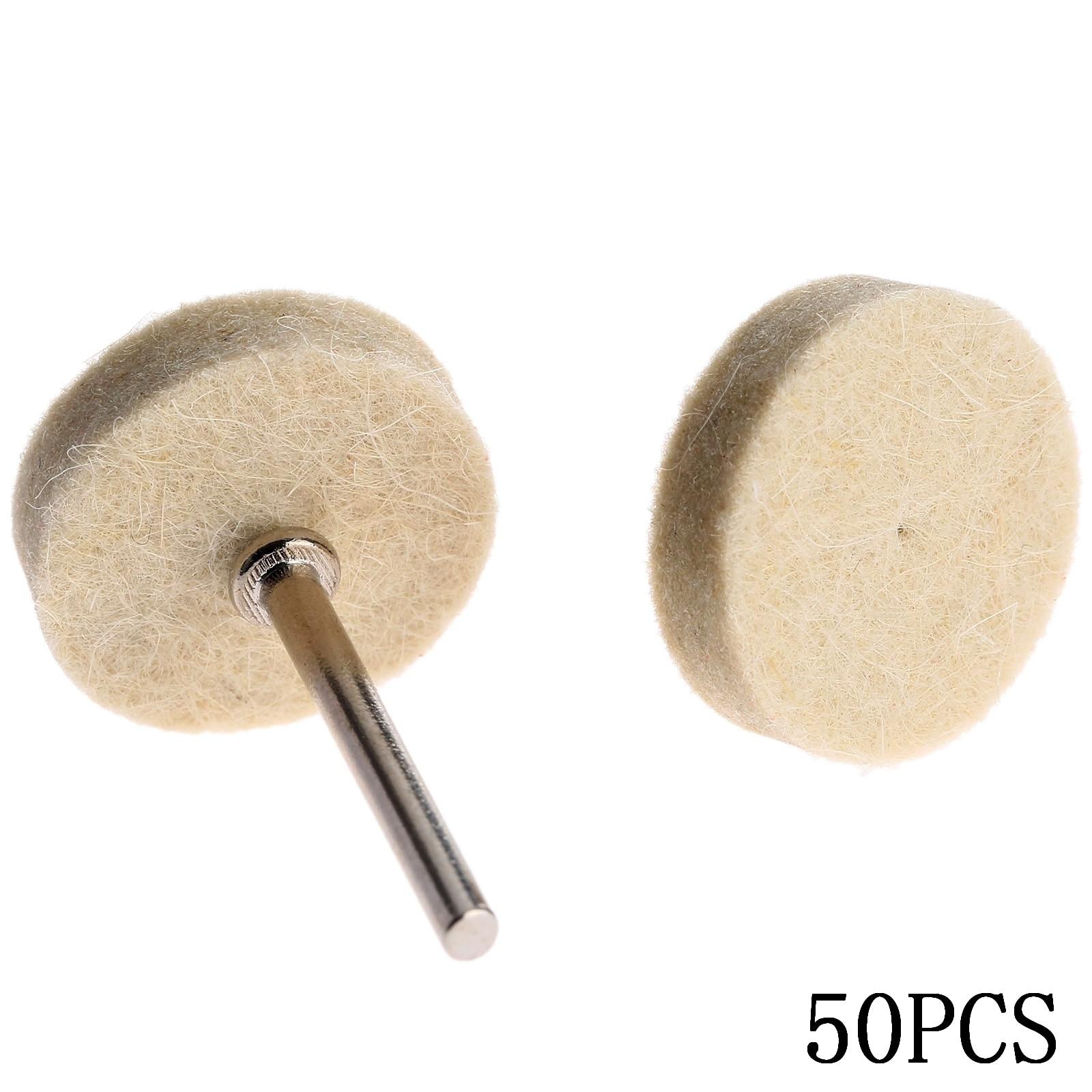 50Pcs 25mm Dremel Accessori Feltro di lana Lucidatura Lucidatura Mola - Utensili abrasivi - Fotografia 4