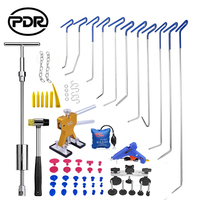 PDR Hooks Auto Repair Paintless Dent Tool To Remove Dents Door Dings Repair Reverse Hammer Lifter Suction Cups For Dents