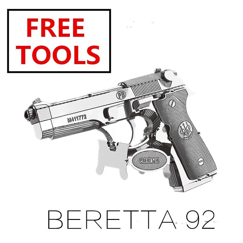 MMZ MODEL NANYUAN 3D Metalen puzzel model kit Beretta 92 GunWeapon Montage Model DIY 3D Laser Cut Model puzzel speelgoed voor volwassen|Puzzels|   - AliExpress