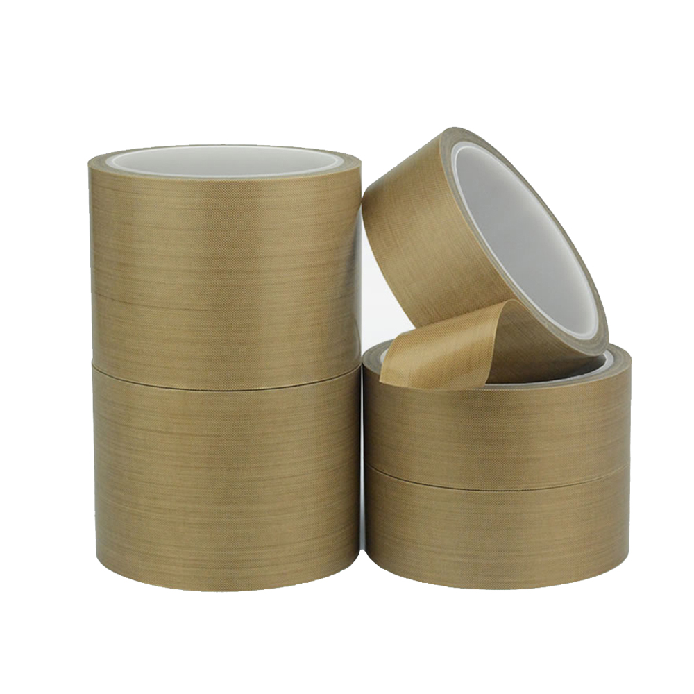 1 Roll 0.18mm Thick 10m Long PTFE Teflon High Temperature Heat-Resistant Adhesive Tape Insulating Adhesive Cloth Heat-resistant heat resistant high temperature masking adhesive tape 19mm 50m 290 c