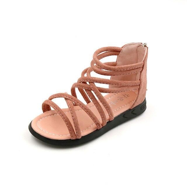 81a6ead7704ac US $13.99 |KALUPAO Summer style children sandals Girls princess shoes kids  flat Sandals Gladiator Sandals Kids PU Leather Sandal-in Sandals from ...