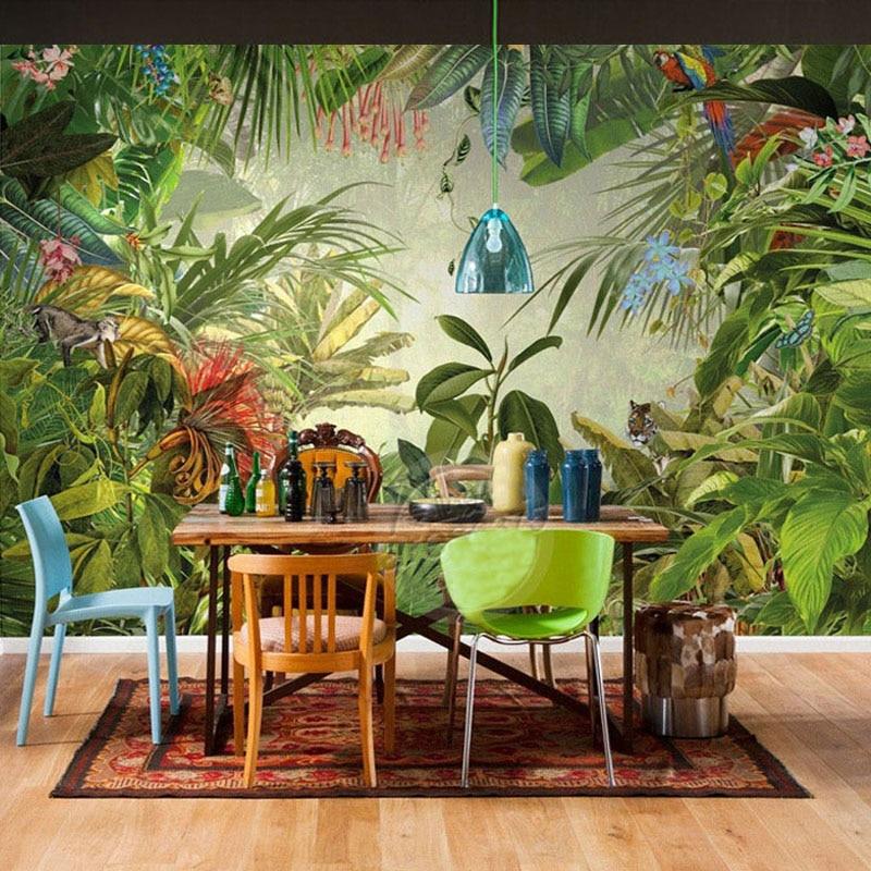 Achetez en gros papier peint for t tropicale en ligne des grossistes papier peint for t - Stijl asiatique ...