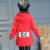 Qiu dong traje de estilo caliente 2016 CC engrosamiento cuhk niño abrigo de ocio de moda de salpicaduras de tinta