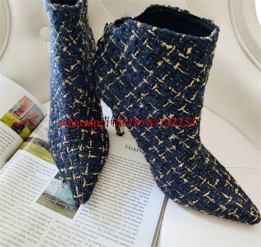 Brand New Kid Suede Shoes Pointed Toe Boots Women Thin High-heeled Luxury Spun-golden Knight Boots Botte Femme Hiver 2016
