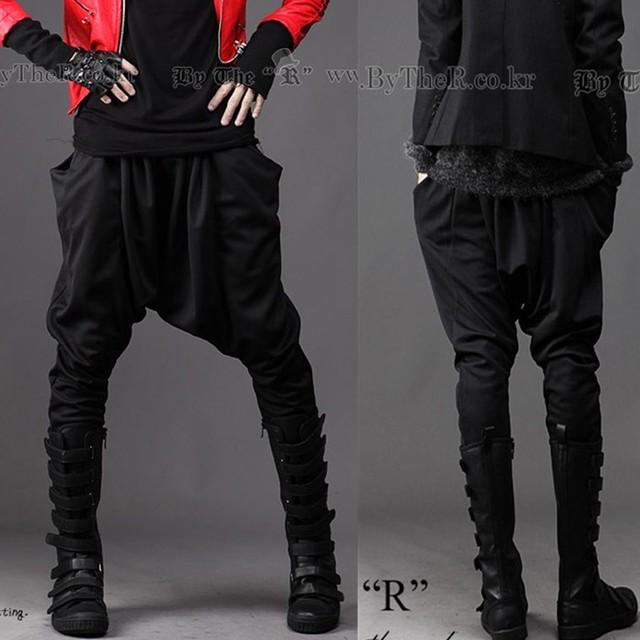 2017 calças masculinas de moda personalidade estilo punk casual calças harem pants