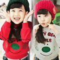 Free shipping children's clothing spring/autumn boy/girl unisex sports thickening sweatshirt fleece outerwear