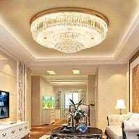 Атмосферное кристалл лампы Круглый гостиной лампа светодиодный потолок Светодиодный столовая лампы освещения Европейский кристалл лампы