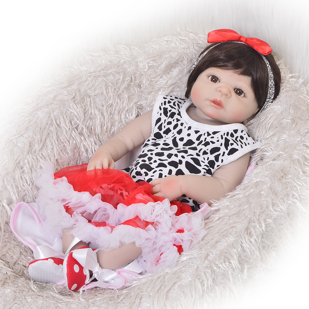 New Arrival 23 Realistic Reborn Babies Girl Doll Full Silicone Vinyl Lifelike Little Bebe Doll For Kids Birthday Gift Play ToyNew Arrival 23 Realistic Reborn Babies Girl Doll Full Silicone Vinyl Lifelike Little Bebe Doll For Kids Birthday Gift Play Toy