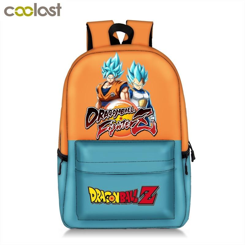 цена Anime Pokemon / Dragon Ball Backpack For Teenager Boys Children School Bags Poke Ball Pikachu / Saiyan SON GOKU Backpack Bag