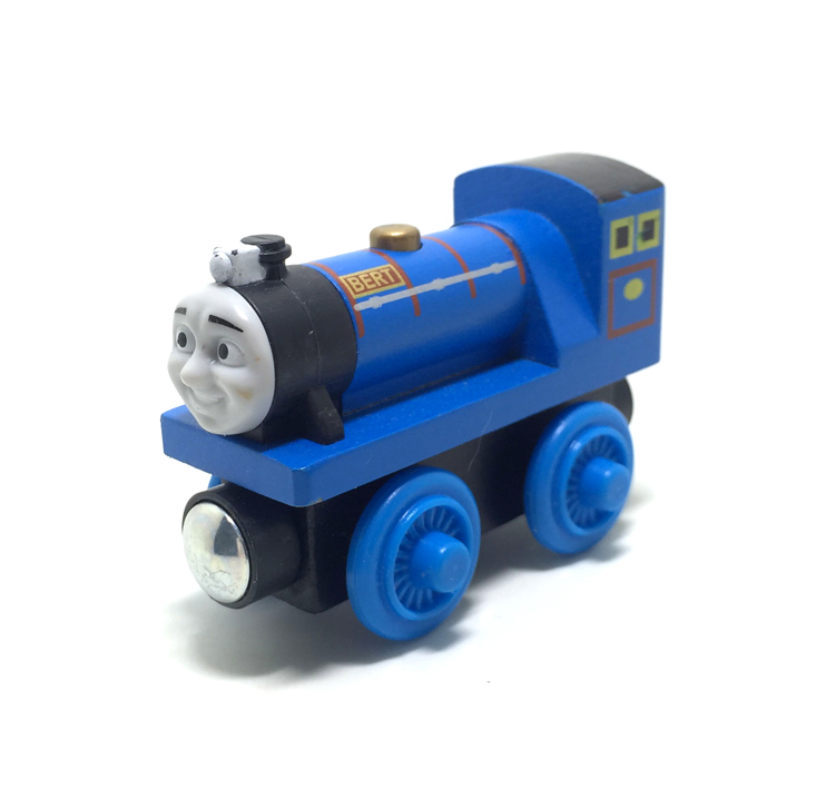 free shipping RARE Thomas And Friends bert WITH TRUCK Wooden Magnetic Railway transportTrain Engine Track Boy /Kids Toy