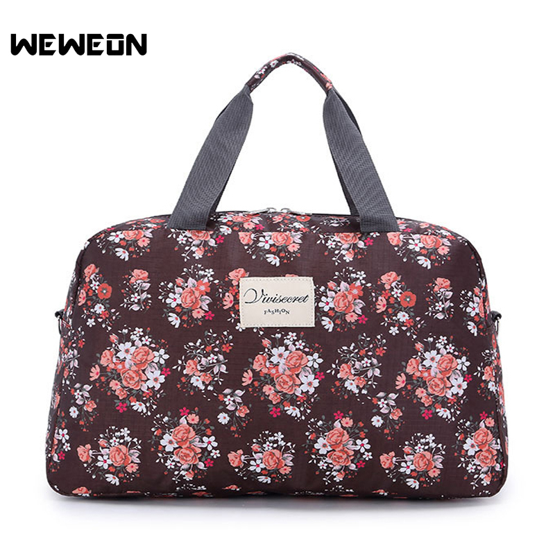 Women's Pattern Sport Bag For Gym Fitness Bags Lady Flower Yoga Handbag Portable Travel/Luggage Bag Weekend Party Tote