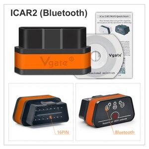 Image 5 - Vgate iCar2 ELM327 Wifi OBD2 Diagnostic Tool for IOS iPhone iPad Android Vgate icar 2 wifi ELM 327 OBD II Code Reader 7 colors