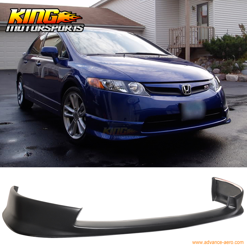 For 06 07 08 Honda Civic 4dr Hfp Style Front Per Lip Spoiler Bodykit Urethane Global Free Shipping Worldwide In License Plate From Automobiles