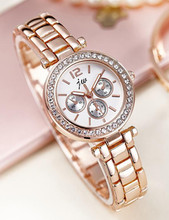 High Quality Quartz Watches Women Luxury Brand 2016 Famous Rose Gold Stainless Steel Wristwatches For Women Casual Dress Watch good quality fasion mens ip gold plating quartz wristwatches stainless steel watches 3 colors available