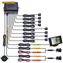 FEELDO 1 компл. автомобиля 8 Сенсор s/18,5 мм Камера/монитор спереди и сзади двойной вида Парковка Сенсор резервное копирование радар Системы