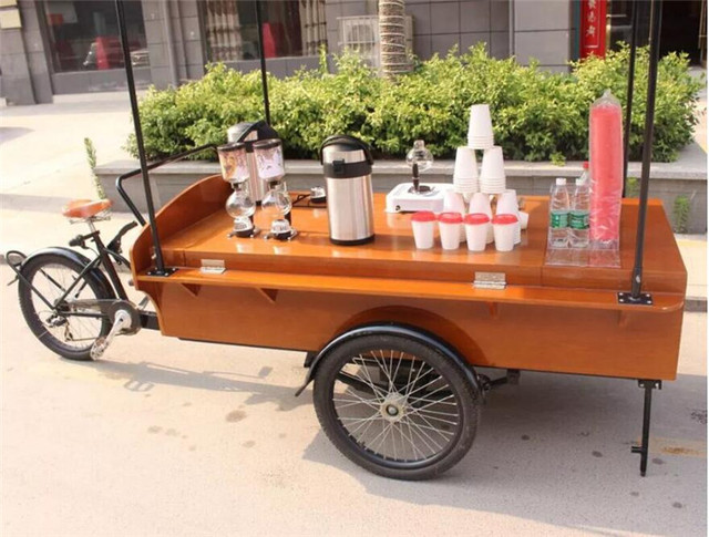 Discount Outdoor Mobile Food Cart Coffee Bike For Sale In Food