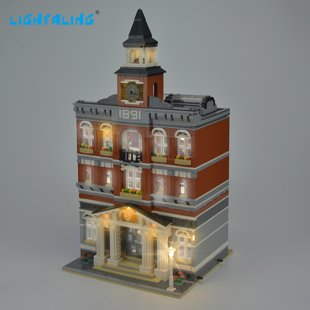 Lightaling LED Light Kit For Creator Town Hall Light Set Compatible With 10224 And 15003 (NOT Include The Model)