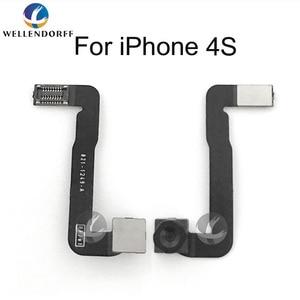 Image 3 - Petite caméra frontale pour iPhone 4 4S 5 5S 5C 6 SE 6 S 7 7P 8 Plus 8 P X capteur lumière proximité câble Flex caméra frontale avec cadeau gratuit