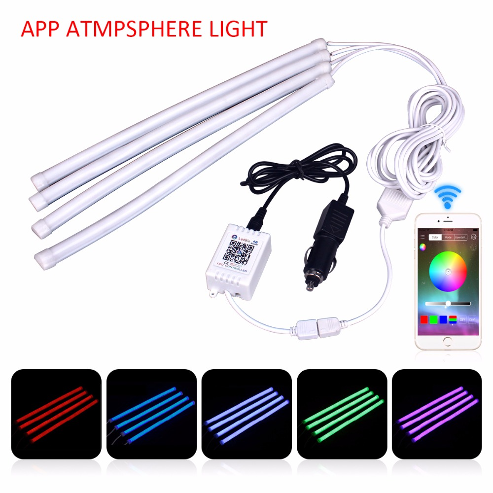 Universal APP Control Car Interior Atmosphere Light Decoration Lamp RGB LED Strip Light Car Interior Light Android iOS Phone