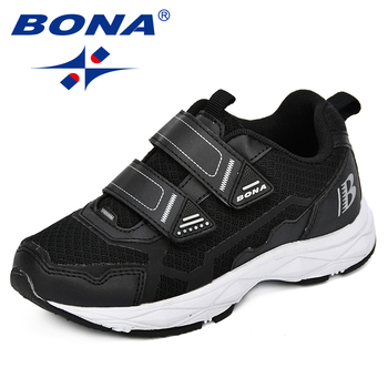 BONA New Children Casual Shoes Boys Sneakers Girls Sport Child Leisure Trainers Breathable Kids Running