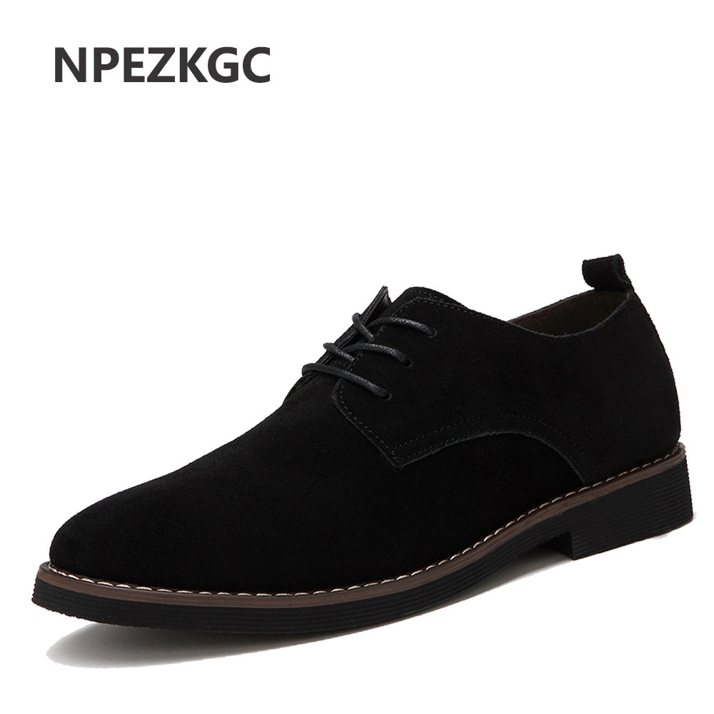 NPEZKGC PU Leather Shoes for Men Casual Oxfords New Arrival High Quality Fashion Cow Suede Leather Flats Luxury Brand Moccasins npezkgc new arrival mens shoes casual cow leather men loafers moccasins fashion breathable low heel slip on men flats shoes