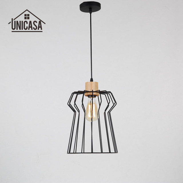 Madera antigua mini LED luz hierro forjado Iluminación accesorios ...