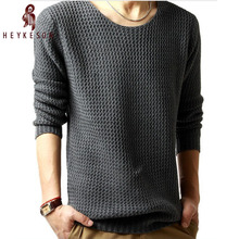 HEYKESON Sweater Pullover Men 2018 Male Brand Casual Slim Sweaters Men High Quality Hedging O-Neck Men'S Sweater Oversize 4XL