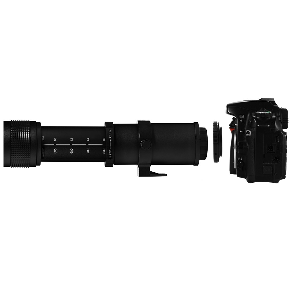 Lightdow 4-800mm F/8.3-16 Super Telephoto Lens Manual Zoom Lens for Canon Nikon Sony Pentax DSLR Camera 13