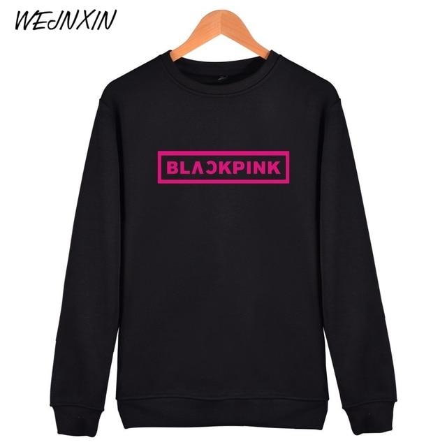 WEJNXIN KPOP Korean Sweatshirt Women Pullover Blackpink Letter Printed JENNIE ROSE