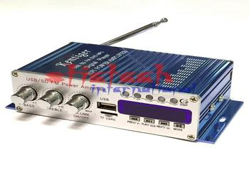 DHL lub Fedex 10 sztuk cyfrowy wyświetlacz system Hi-Fi 50Wx4 2CH samochodowe stereo wzmacniacz mocy AMP wsparcie iPod USB MP3 FM SD Jack tanie i dobre opinie stictech kentiger 502 Wielokanałowych 20W*2 800mv 20Hz-20KHz metal Wzmacniacze Power amplifier 98db piece 0 315 10cm x 10cm x 10cm (3 94in x 3 94in x 3 94in)