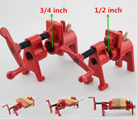 Freeshipping Heavy Duty Pipe Clamp Woodworking Tools Rocker Type 1/2inch 22mm ,3/4inch 28mm Pipe Clamp Fixture Carpenter