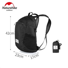 NatureHike Outdoor Travel mountaineering Backpack Waterproof Sport Bag Folding Ultralight Hiking Rucksack 18L