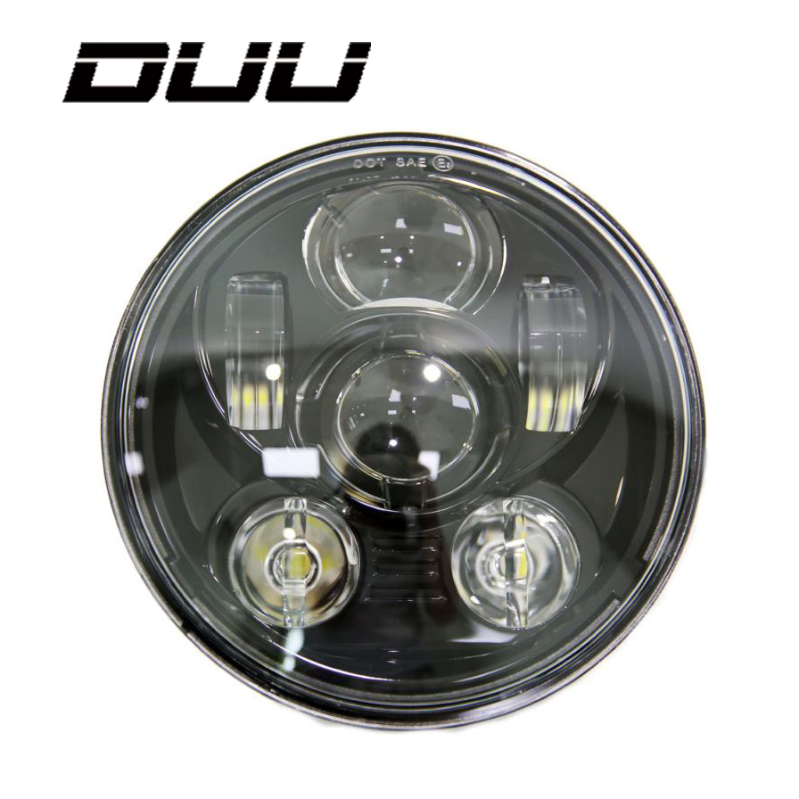 DUU Motos Accessories 5.75 inch headlight motorcycle 5 3/4 led headlight for Harley 5 3/4 Motorcycle Black Projector Daymaker