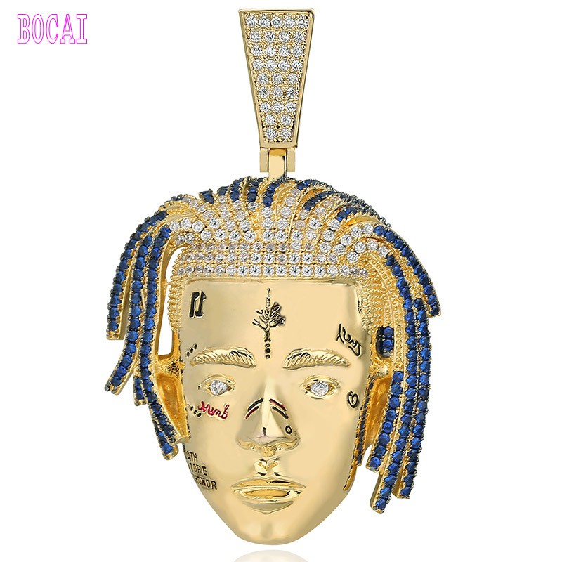 Hip hop chanteur avatar pendentif micro-incrusté zircon personnalisé hiphop collier bijoux