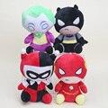 """4 шт./компл. Вспышка Бэтмен Харли Квинн Джокер Плюшевые и мягкие Игрушки Мягкие Чучела Куклы около 8 """"20 см"""