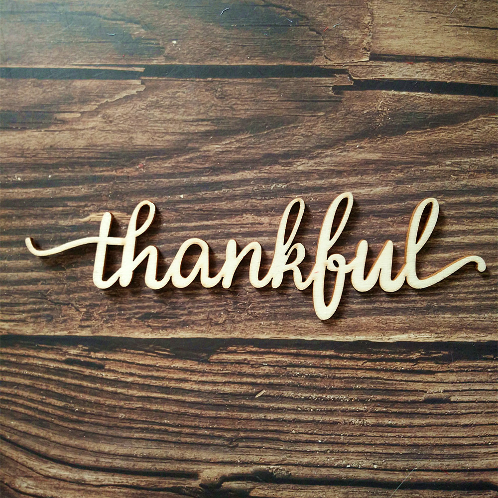 10pcs Wooden Word Sign Thankful Sign Wood Word Home Decor