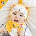 2016 новое поступление доставка бесплатная мода детская весной 100% CottonBaby шляпа биб устанавливает