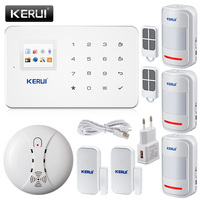 KERUI G18 אנגלית/רוסית קול אזעקת GSM מערכת אזעקת חיוג אוטומטית אבטחת בית וכיבוי אש iOS אנדרואיד App חיישן