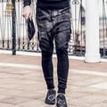 Fanzhuan Бесплатная Доставка мужская весна мужской моды случайные 2017 Новые свободные брюки 711006 геометрическим рисунком Харен брюки черный человек