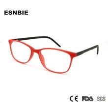 ESNBIE Woman Fashion Eyeglasses Frame Women TR90 Plastic Memory Plain Eye Glasses Small Size Oculos De Grau Feminino