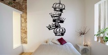 YOYOYU Wall Decal Vinyl Art Sticker Crown King Power Cool Prince Decor Removeable Home Mural Poster YO511