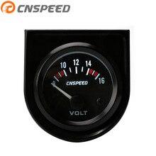 """CNSPEED вольтметр """"(52 мм) Универсальный 8-16 Вольт вольтметр Электрический измеритель Спидометр YC101264"""