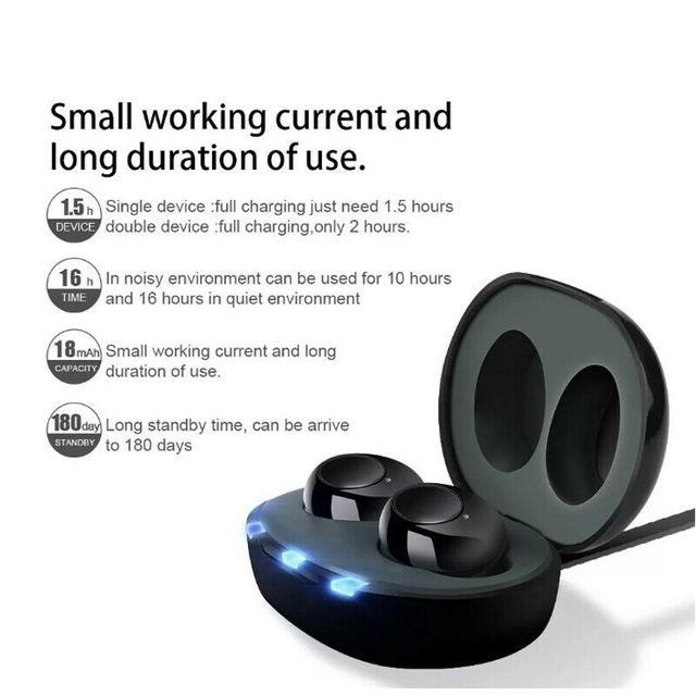 1 Pair USB Rechargeable Mini In Ear Portable Invisible Hearing Aids Assistant Adjustable Tone Sound Amplifier For Deaf Elderly 3