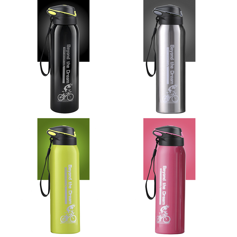 500ML Bike Water Bottle Outdoor Sport Running Mountain Cycling Warm-keeping Bicycle Kettle Drink Bottle Stainless Steel Cup