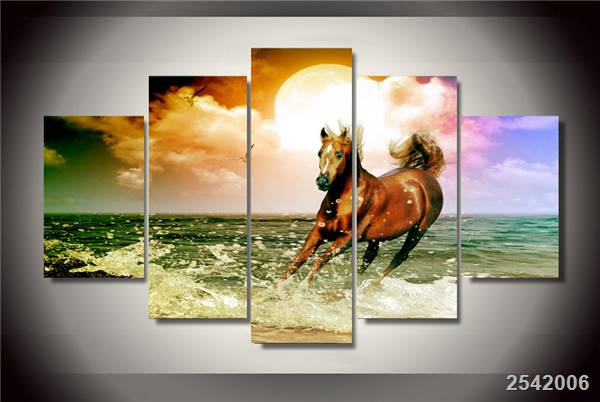 Hd Printed Beach Horse Painting On Canvas Room Decoration Print Poster Picture Canvas Free Shipping/Ny-2756 Christmas gift