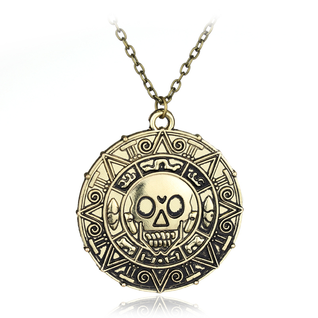 Statement necklaces pirates of the caribbean aztec coin medallion statement necklaces pirates of the caribbean aztec coin medallion necklaces pendants skull coin necklace jewelry mozeypictures Gallery
