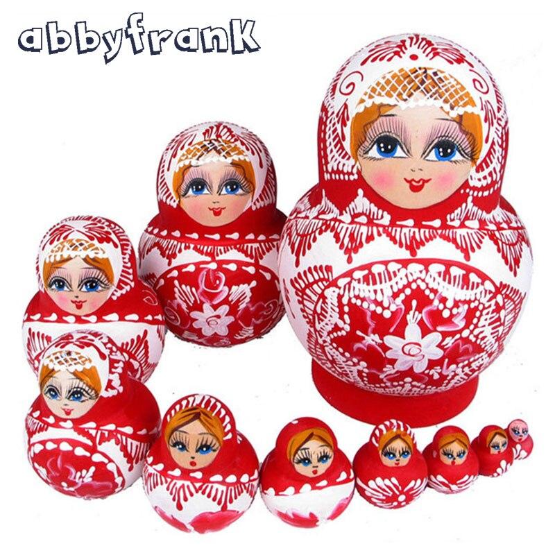 abbyfrank 10pcs set babushka matryoshka russian nesting dolls
