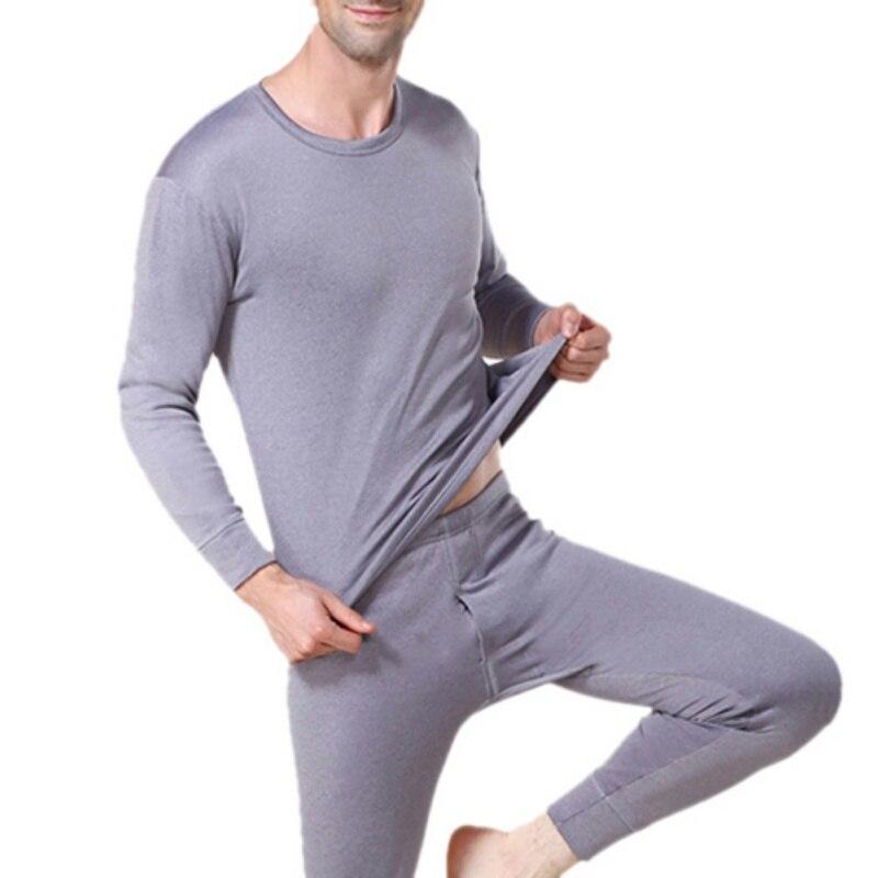 Mens Warm Underwear Men Winter Long Sexy Black Underwear Sets Thick Plus For Man
