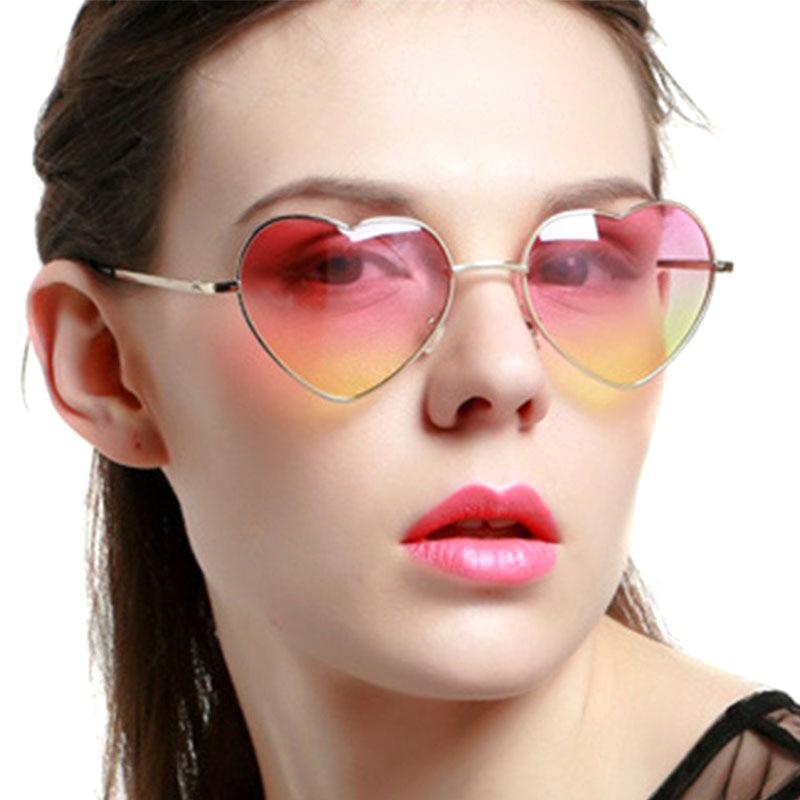 f9e6ed90ba3cc8 VESTEY Newest Luxury Brand Sunglasses Women Metal Gradient Heart Sunglasses  Ladies Love Sun Glasses Lunette Femme Sunglases -in Sunglasses from Women s  ...