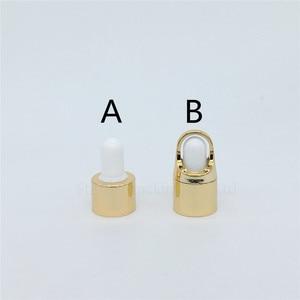 Image 5 - 10ml,15ml,20ml,30ml, 50ml,100ml garrafa de vidro de ouro com garrafa de óleo essencial conta gotas, garrafas de perfume 100 pces